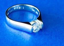 Engagement Ring. Newly shined engagement diamond ring Royalty Free Stock Photography