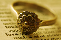 Engagement ring royalty free stock photo