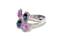 Engagement Ring. Isolated on white background Stock Images