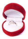 Engagement ring and box cutout Stock Photos