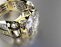 Engagement Ring with Diamond. Jewelry background Royalty Free Stock Photos