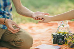 Engagement ring proposal Stock Photos