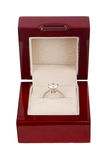 Engagement Ring in Red Box Royalty Free Stock Photo