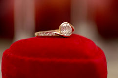 Engagement ring. Royalty Free Stock Photography