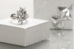 Engagement ring. Stock Photos