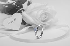 Engagement ring. Stock image diamond ring with clipping path stock images
