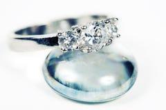 Engagement Ring taken closeup Royalty Free Stock Images