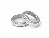 Engagement rings 01 Royalty Free Stock Image