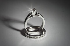 Engagement rings Stock Image