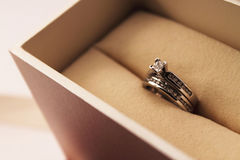 Engagement rings set Stock Photography