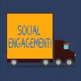 Engagement social des textes d'écriture de Word Le concept d'affaires pour le courrier obtient de hautes annonces SEO Advertising illustration libre de droits