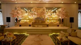 Engagement and wedding party hall decoration picture for every imaginable venue stock photography