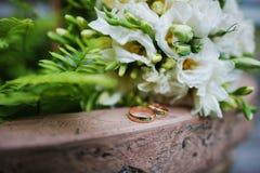 Engagement wedding rings Royalty Free Stock Photo