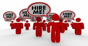 Engagez-moi des personnes de Job Candidates Interview Speech Bubble Photo stock