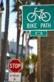 Engagierter Weg des Fahrrades Stockfoto