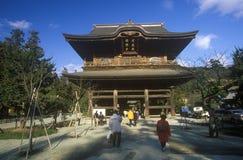 Engaku籍Zviroku圣戴Engaku Kosho禅宗金,禅宗中心,镰仓,一点老京都,在东京附近 库存图片