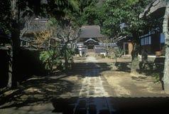 The Engaku-Ji Zviroku-San Dai-Engaku Kosho Zen-Jin, a Zen Center, Kamakura, Little Old Kyoto, near Tokyo Royalty Free Stock Photos