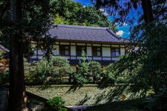Engakuji寺庙大厅在镰仓 库存照片