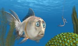 Enganchando peixes ilustração do vetor