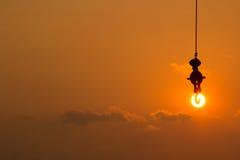 Enganche el sol fotografía de archivo libre de regalías