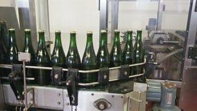 Engarrafamento automático da adega de vinho filme