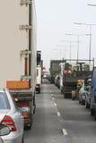 Engarrafamento de estrada Fotografia de Stock