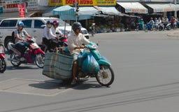 Engarrafamento em Ho Chi Minh City Vietnam Fotografia de Stock