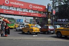 Engarrafamento em Kolkata Fotografia de Stock