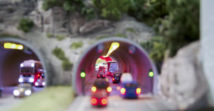 Engarrafamento em um túnel Fotos de Stock Royalty Free