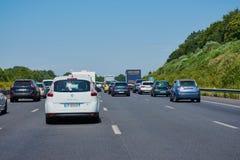 Engarrafamento em uma estrada francesa foto de stock royalty free