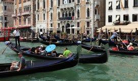 Engarrafamento em Veneza Foto de Stock
