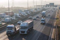 Engarrafamento na estrada britânica M1 Fotos de Stock