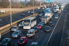 Engarrafamento na estrada britânica M1 Imagens de Stock