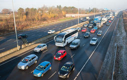 Engarrafamento na estrada britânica M1 Fotografia de Stock