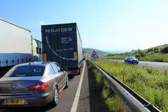 Engarrafamento na estrada de Dôvar Fotografia de Stock