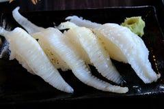 Engawa寿司用所有寿司和生鱼片 免版税图库摄影