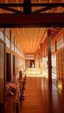 Engawa eines Gebäudes an Kumamoto-Schloss Stockfotografie