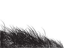 Engazonnez le noir de silhouette, backgr Photos libres de droits