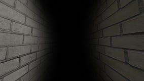 Enge gang Donker en somber, volledig van geheimen, de gang stock videobeelden