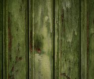 Enge gekraste donkere houten textuur als achtergrond Oude groene mysticus Royalty-vrije Stock Afbeeldingen