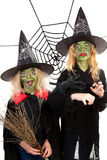 Enge groene heksen voor Halloween Royalty-vrije Stock Foto