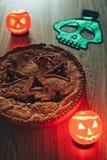 Enge Halloween-Pastei royalty-vrije stock foto's