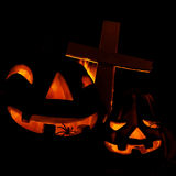 Enge Halloween-pompoen Stock Fotografie
