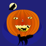 Enge Halloween pompoen royalty-vrije illustratie