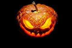 Enge Halloween pompoen royalty-vrije stock fotografie