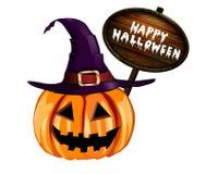 Enge Halloween van de Lantaarn van Jack O pompoen Stock Fotografie