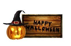 Enge Halloween van de Lantaarn van Jack O pompoen Stock Afbeelding