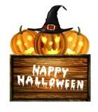 Enge Halloween van de Lantaarn van Jack O pompoen Stock Afbeeldingen