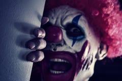 Enge kwade clown royalty-vrije stock afbeelding