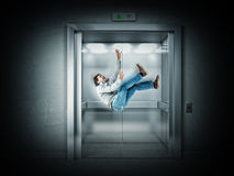 Enge lift Stock Foto's